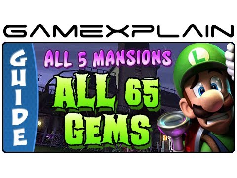 All 65 Gems in Luigi's Mansion 2: Dark Moon - Guide & Walkthrough (Every Mansion!)
