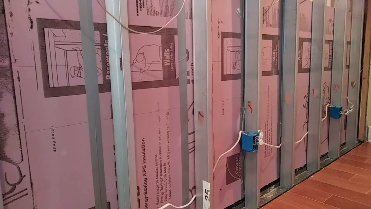How To Insulate Basement Walls With Rigid Foam Panels