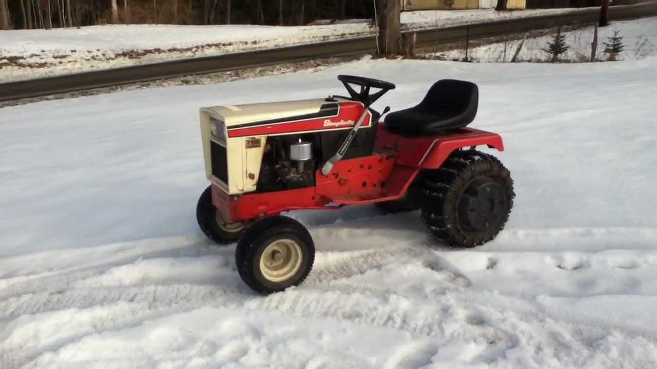 Simplicity 7116 Garden Tractor   YouTube