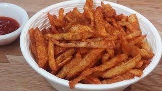 బంగాళాదుంప తో ఇలాగ ఫ్రెంచ్ ఫ్రైస్ చేసుకోండి కే యఫ్ సి కన్నా రుచిగా ఉంటాయి || French Fries Like (KFC)