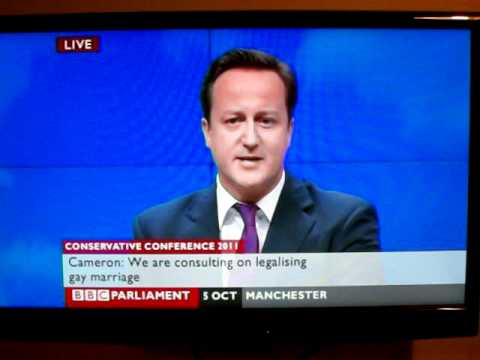David Cameron Supports Gay Marriage legalisation.