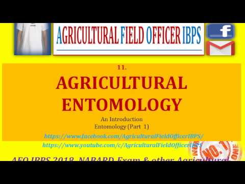 ENTOMOLGY   Part 1 for AFO 2018, JRF, NABARD, Any other agricultural compititive exams
