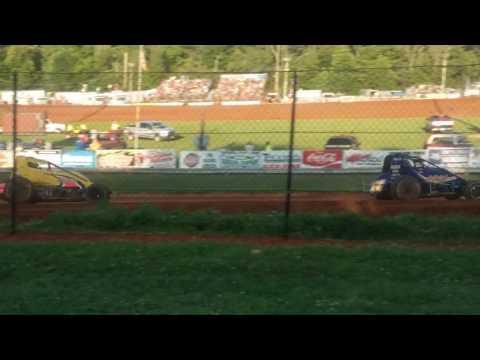 USAC Sprint Car Heat 2 Part 2/2  Bloomington Speedway