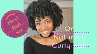 Flexi Rod Set Tutorial on Naturally Curly Hair (Best Setting Lotion EVER!!!)