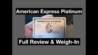 American Express Platinum Card Unboxing/Review/ Weigh-In by rooshpat