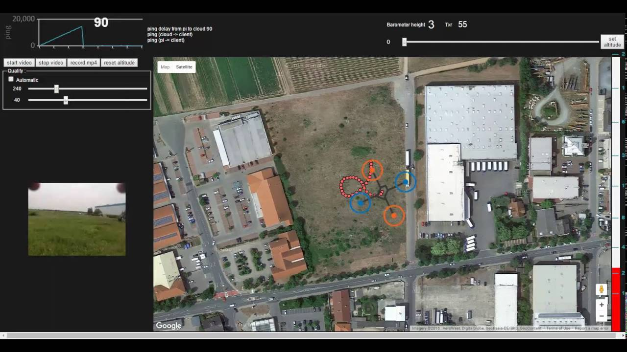 real-time GPS tracking of my drone and image streaming using raspberry pi  over 3G