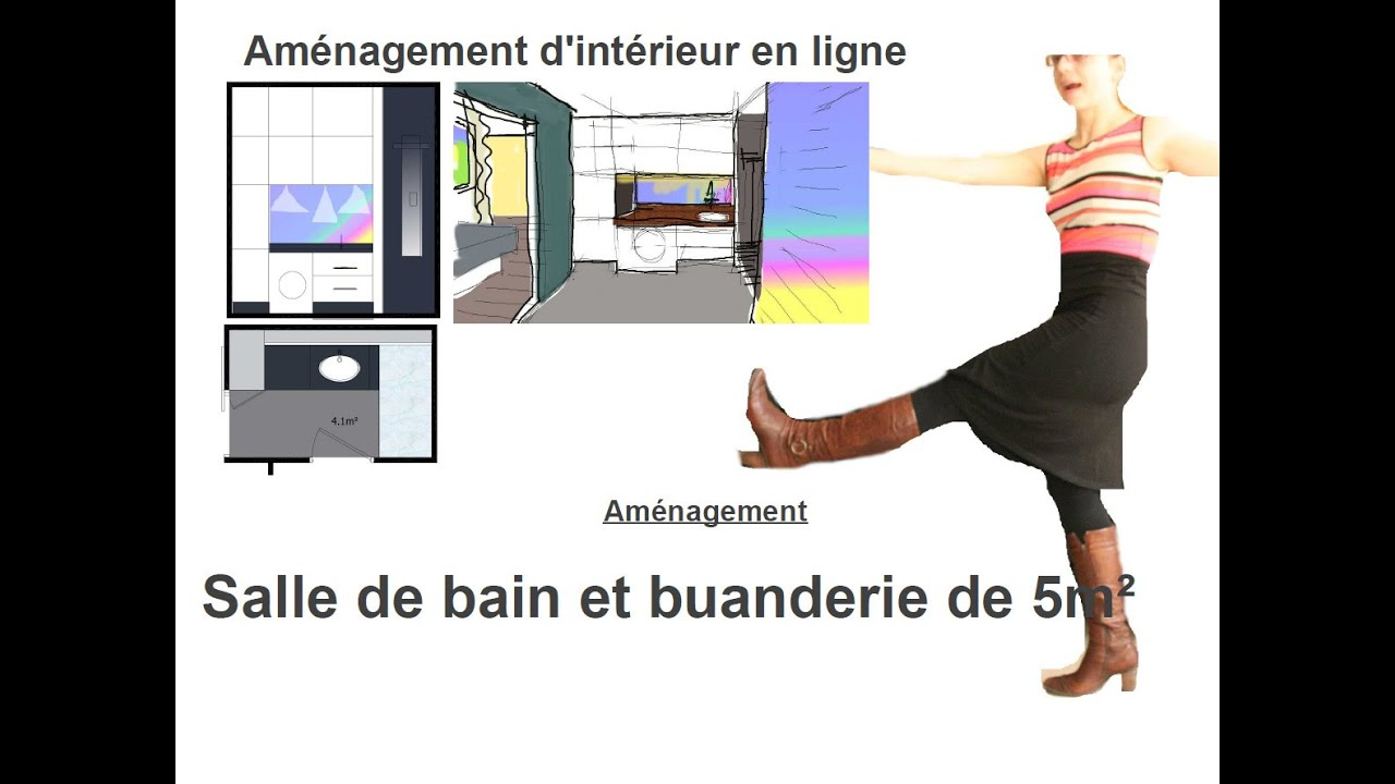 Amenagement salle de bain buanderie youtube for Amenagement salle de bain 7m2