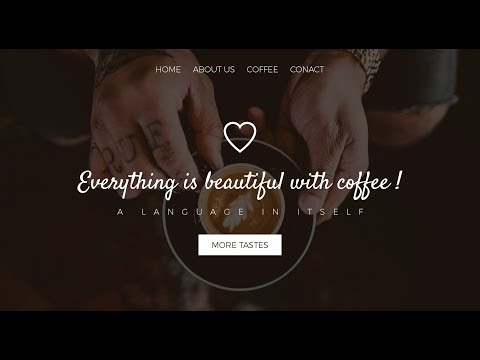 Web Design // Coffee Shop // Speed Art + Speed Code