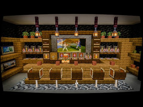 How To Build A Bar In Minecraft 1 14 Interior Tutorial Youtube