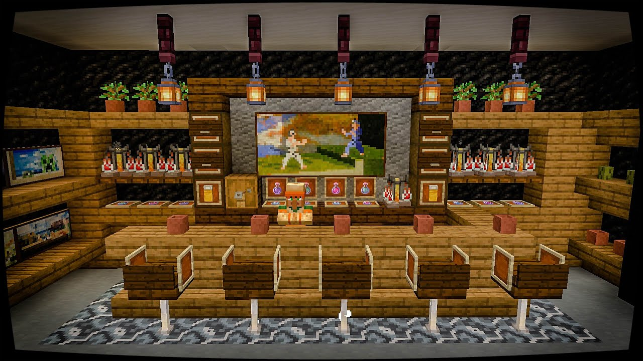 How To Build A Bar In Minecraft 1 14 Interior Tutorial