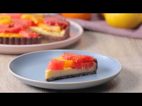 Winter Citrus Chocolate Tart • Tasty Recipes