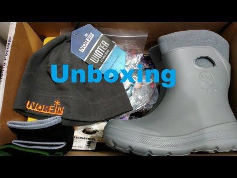 Unboxing посылки с приманками, сапогами и шапкой от интернет магазина Fmagazin