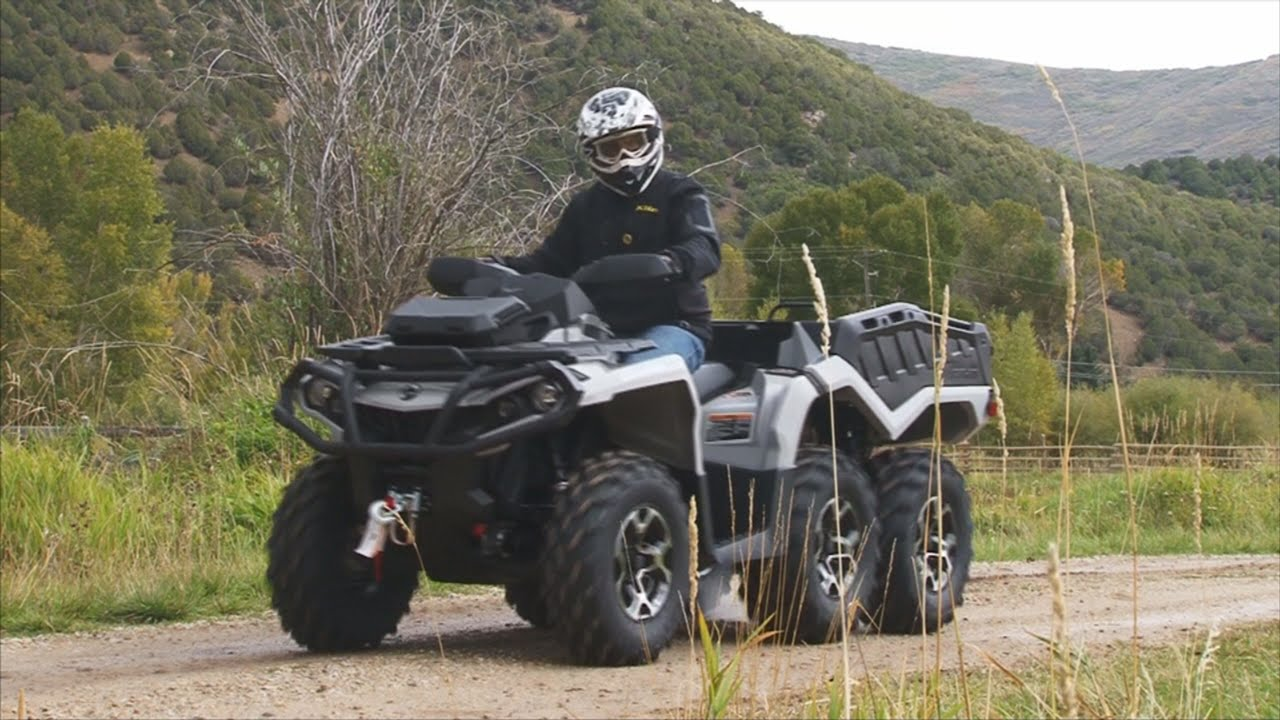 Can Am Outlander Max 2018 >> Can-Am Outlander 6X6 Review - YouTube