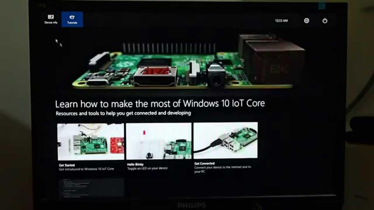 Boot-up Windows 10 IoT Core on Raspberry Pi 2