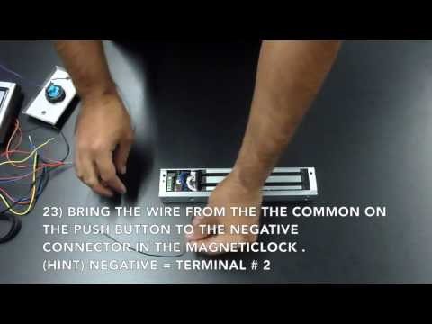Magnetic Lock Access Control Kit Wiring Instructions - YouTube on