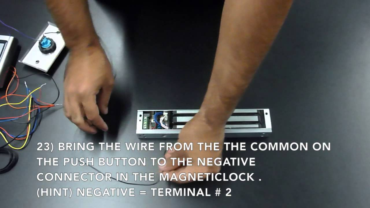 Electronic Door Lock Wiring Diagram Nissan Primera P12 Abs Magnetic Access Control Kit Instructions - Youtube