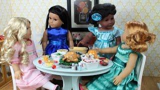 American Girl Doll Thanksgiving Doll Room ~ HD!