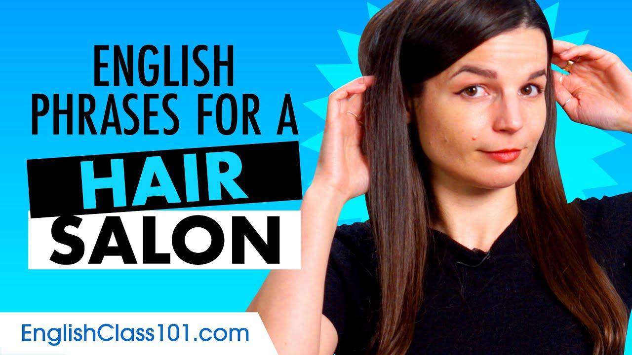 Useful English Phrases for a Hair Salon