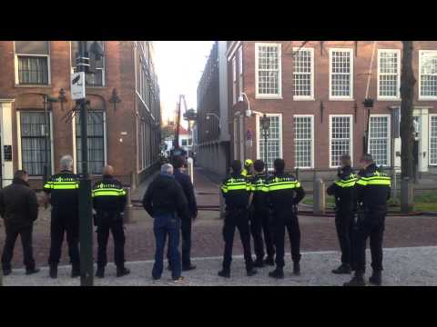 Fire at the British Embassy in The Hague in the Netherlands (raw video)