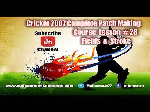 Ea Cricket 07 Patch Making Tutorial 28 Set Stroke Selection Fields Adjust Urdu Hindi