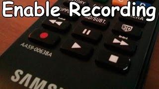 Enable Record on USA Samsung Smart TV