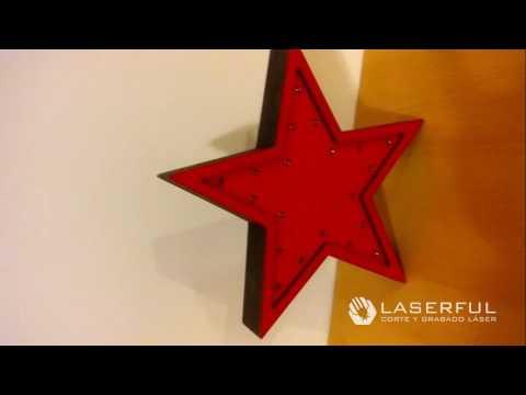 Velador estrella luminosa luces led laserful argentina - Luces led calidas ...