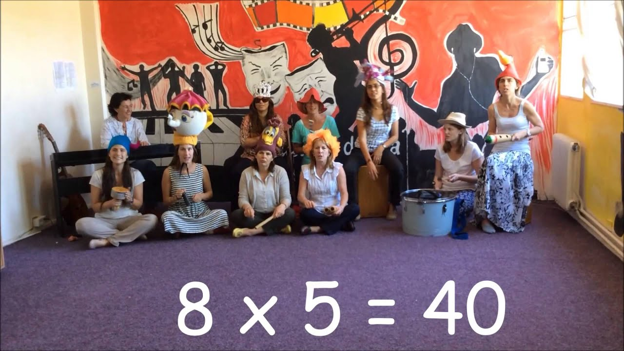 8 times table song teachers youtube for Table 6 song