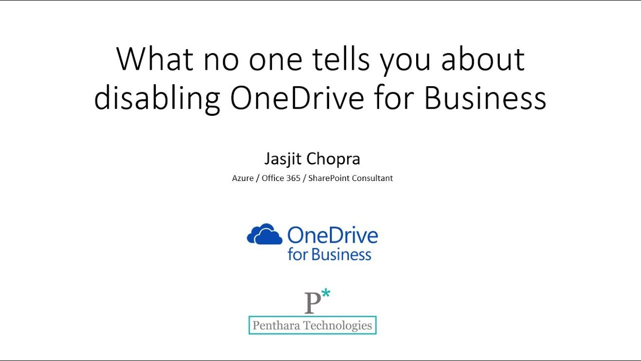 What no one tells you about disabling OneDrive for Business