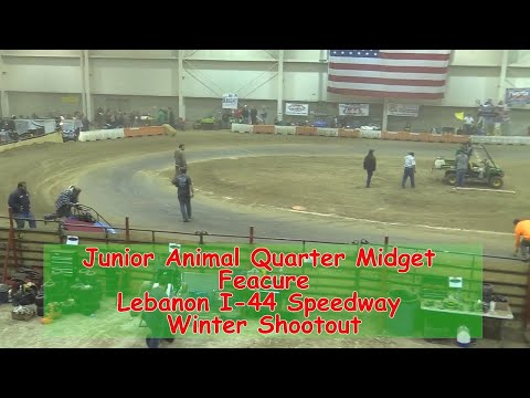 Junior Animal Quarter Midget Feature   I 44 Speedway Winter Shootout 1 19 2018