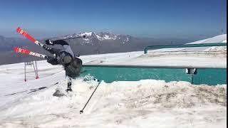 Skiing Rail Grind Fail