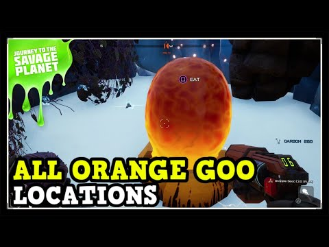 Journey To The Savage Planet All Orange Goo Locations - Stronger, Faster, Probably Poisonous Trophy