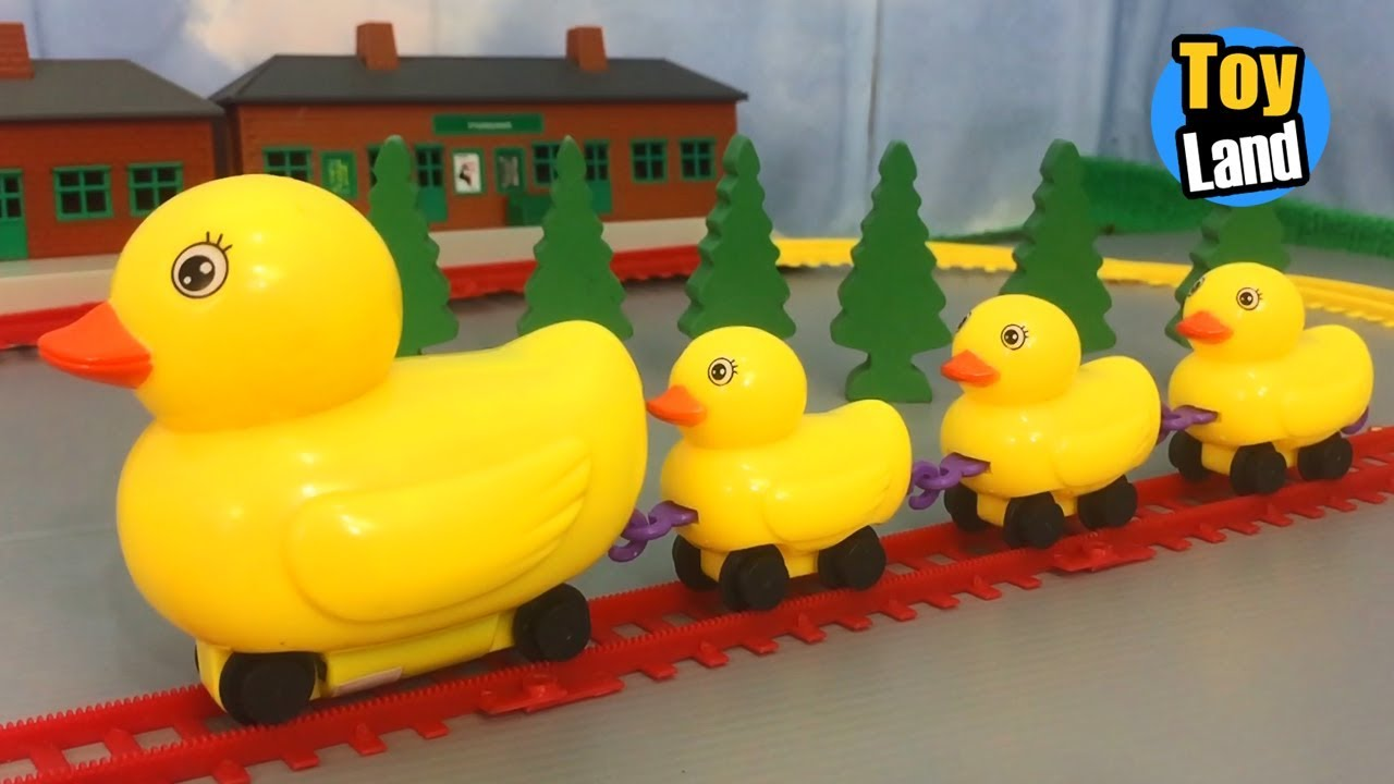 Duck Train Toys Kids Video Funny Track Set For Kids