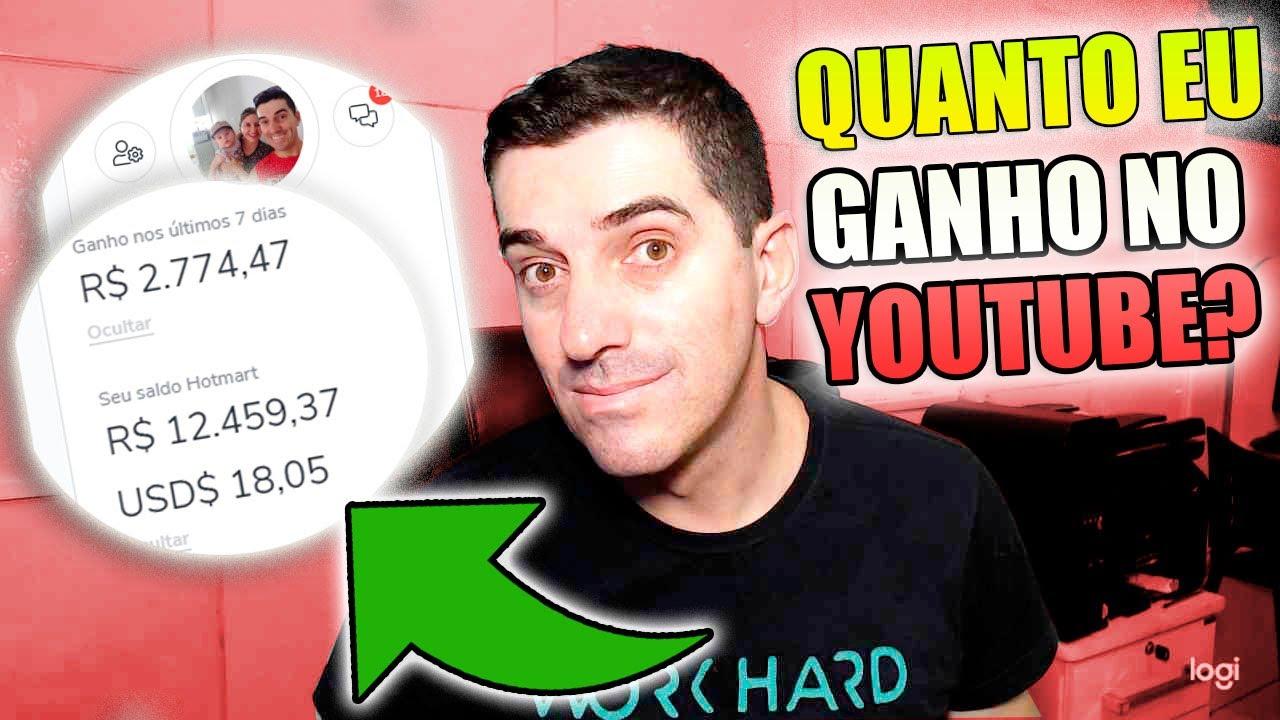 YOUTUBE: COMO GANHAR DINHEIRO NO YOUTUBE VÁRIAS FORMAS DE GANHOS QUANTO EU GANHO hotmart monetizze