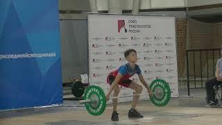 Шумихин Артур, 13 лет, вк 37 Рывок 40 кг Есть рекорд г Красноуральск