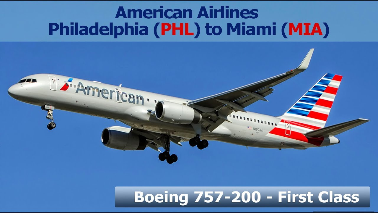 American Airlines Boeing 757 200 Philadelphia Phl To
