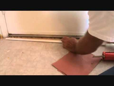 Installing Door Threshold Trimwithout Nails Youtube
