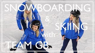 Learning To Ski & Snowboard With Team GB