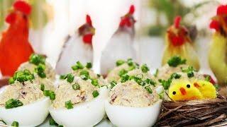 """Фаршированные Яйца """"Мимоза"""" Простая Закуска на Скорую Руку"""