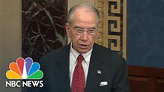 Chuck Grassley Rebukes New York Times For Brett Kavanaugh Misconduct Report | NBC News