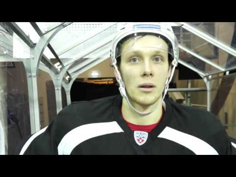 Виталий Попов - небольшое интервью перед матчем с Ригой