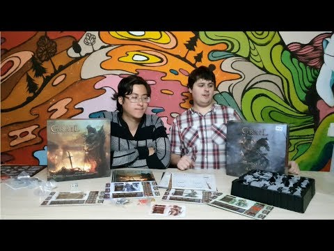 Tainted Grail The Fall of Avalon + Monsters of Avalon Miniature Распаковка Unboxing