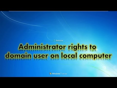 Administrator rights to domain user on local computer