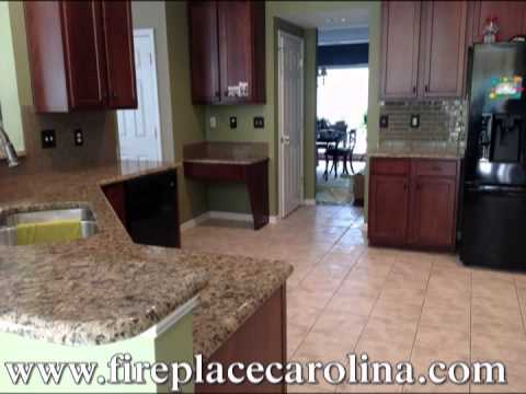 charlotte kitchen cabinets kraus sinks giallo vicenza light granite- countertops installed ...