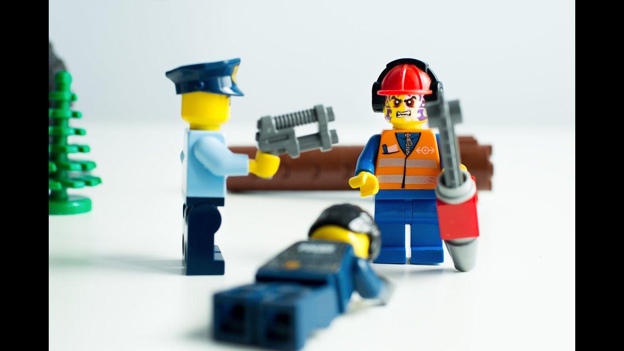 Lego city adventures. Zombie attack. Stop motion mini ...
