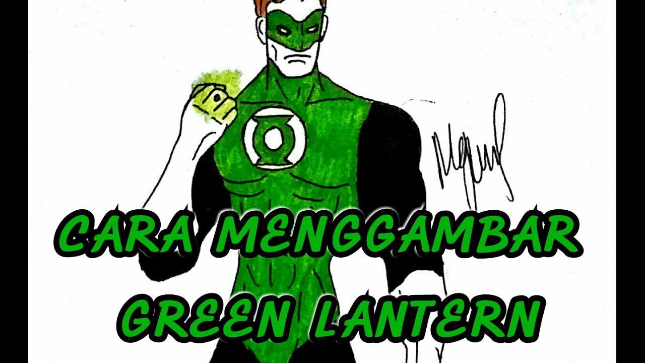 how to draw green lantern step by step easy
