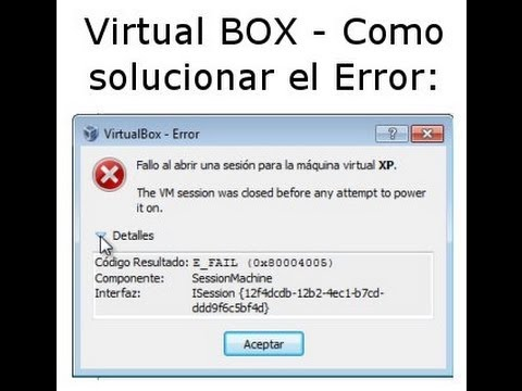 failed to open session for the machine