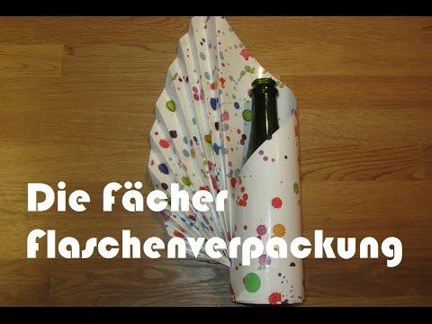 flasche als geschenk verpacken how to. Black Bedroom Furniture Sets. Home Design Ideas