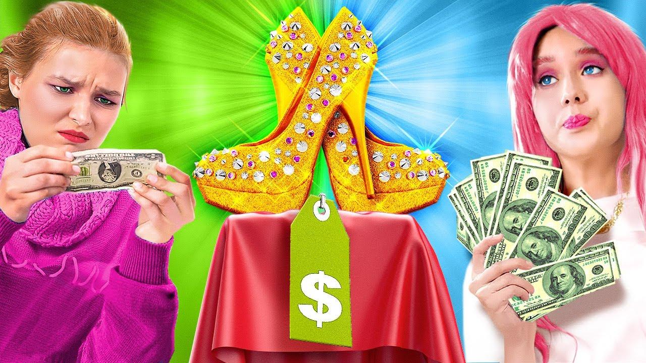Rich VS Broke Shopping. Clothing Ideas for Fashion Girls