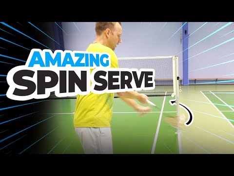 Forehand SPIN SERVE in badminton - Around the post
