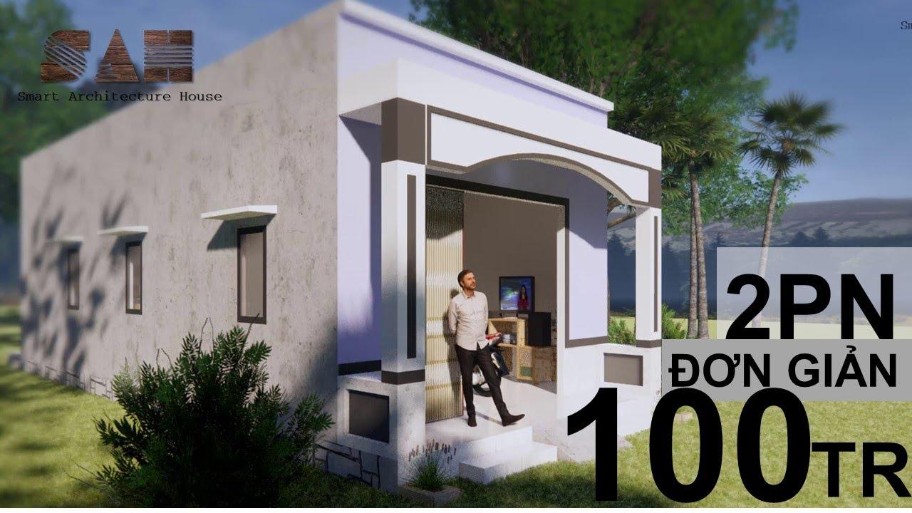 Nhà cấp 4 dưới 100 triệu 2 phòng ngủ | Home design | Nhà đơn giản